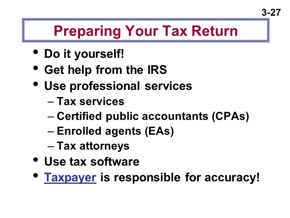Chapter 3 managing your taxes ppt download preparing your tax return solutioingenieria Image collections