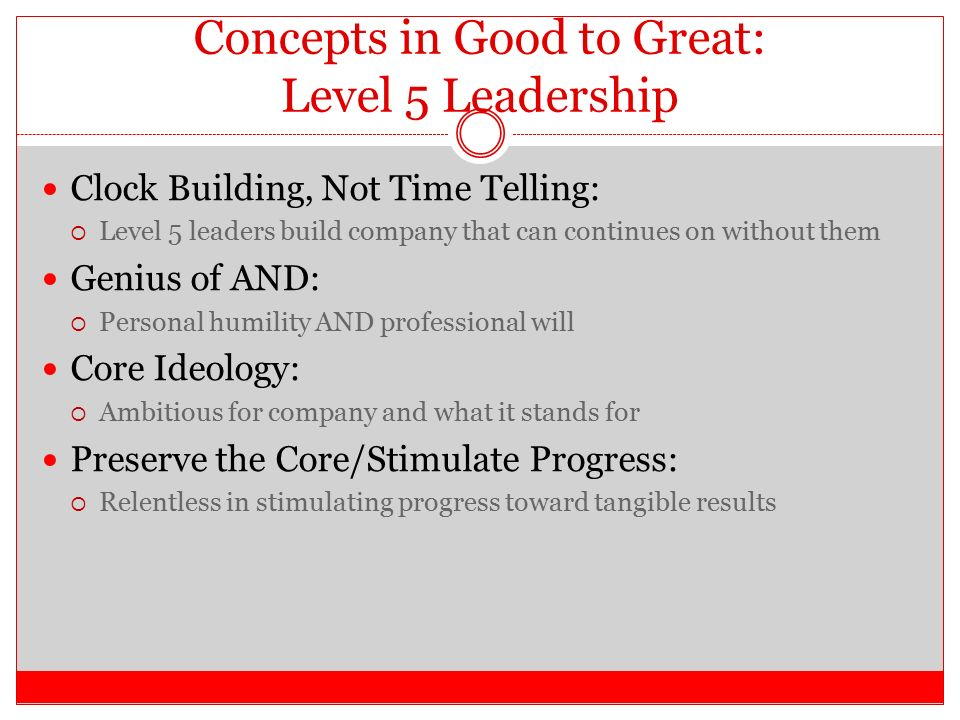"Good To Great Chapter 9 ""From Good To Great To Built To Last"