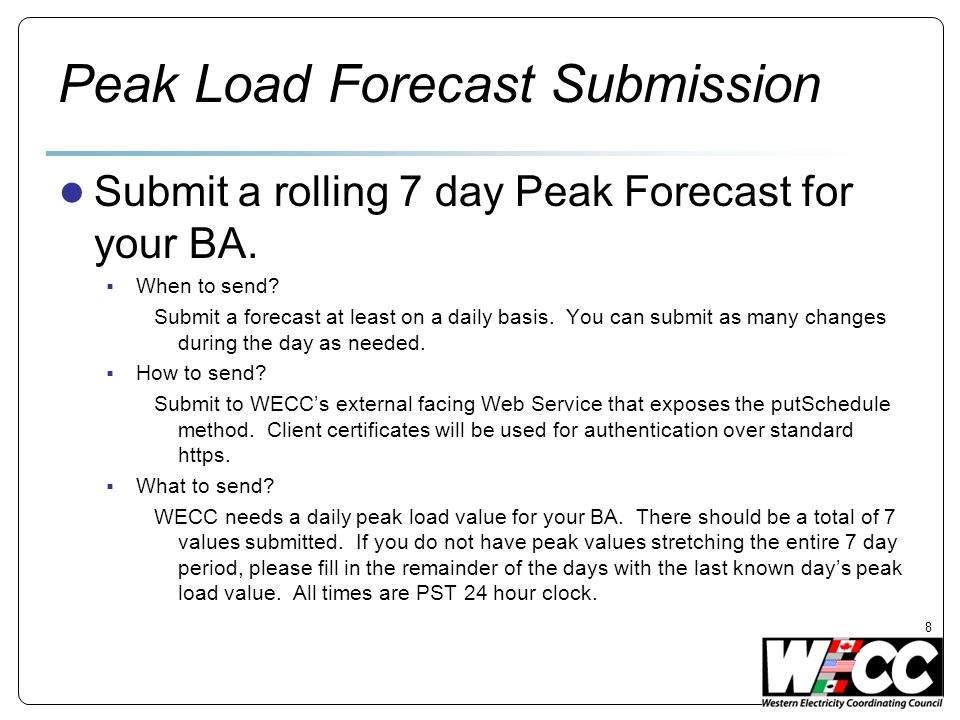 Peak Load Forecast Submission