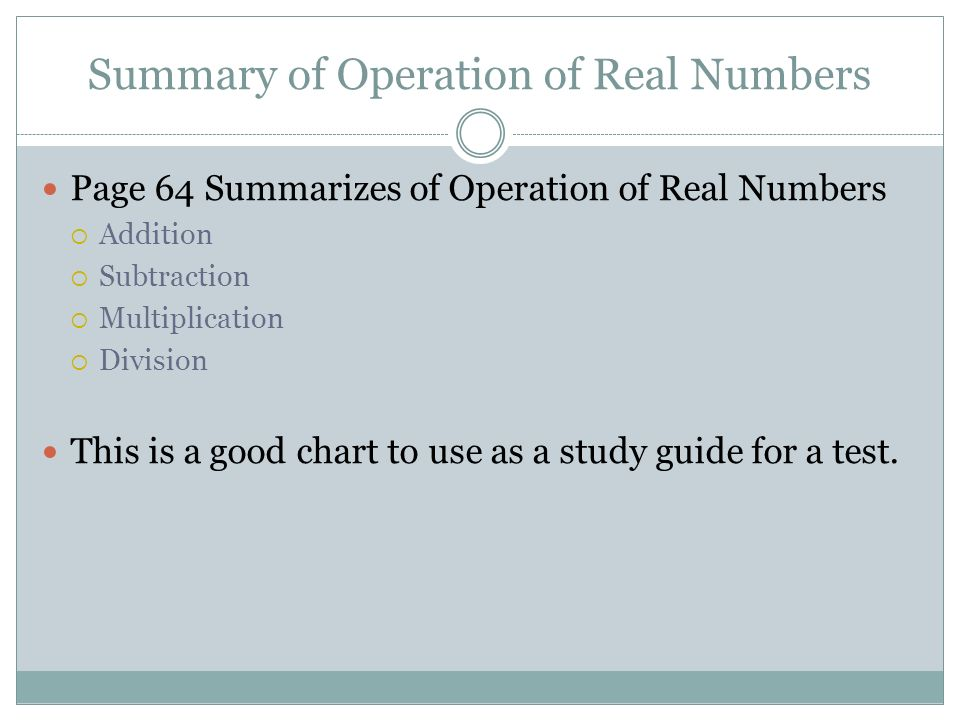Multiplication and division of Real Numbers CHAPTER 1 Section 8 ...