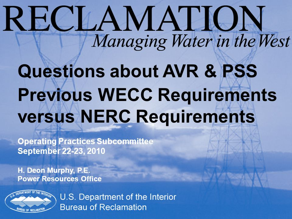 Questions about AVR & PSS