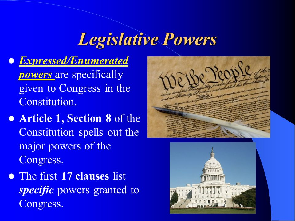 The Powers Of Congress Ppt Video Online Download