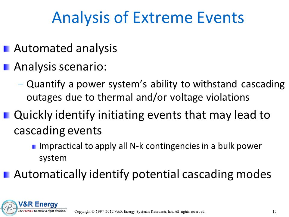Analysis of Extreme Events