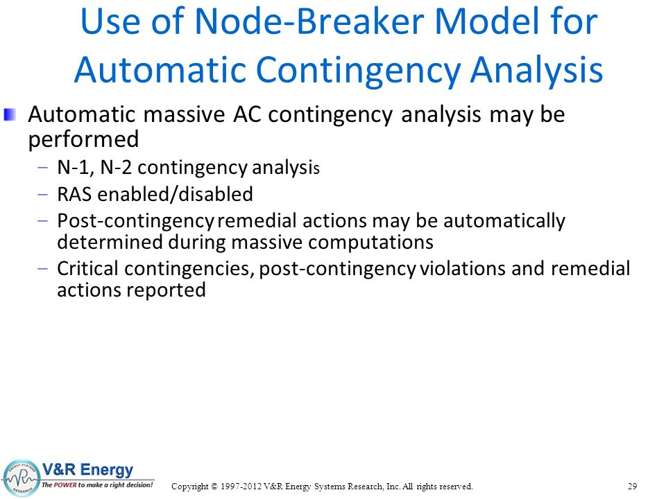 Use of Node-Breaker Model for Automatic Contingency Analysis