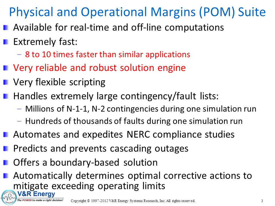 Physical and Operational Margins (POM) Suite