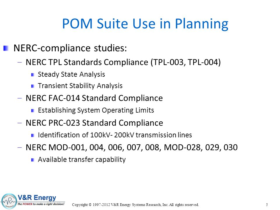 POM Suite Use in Planning