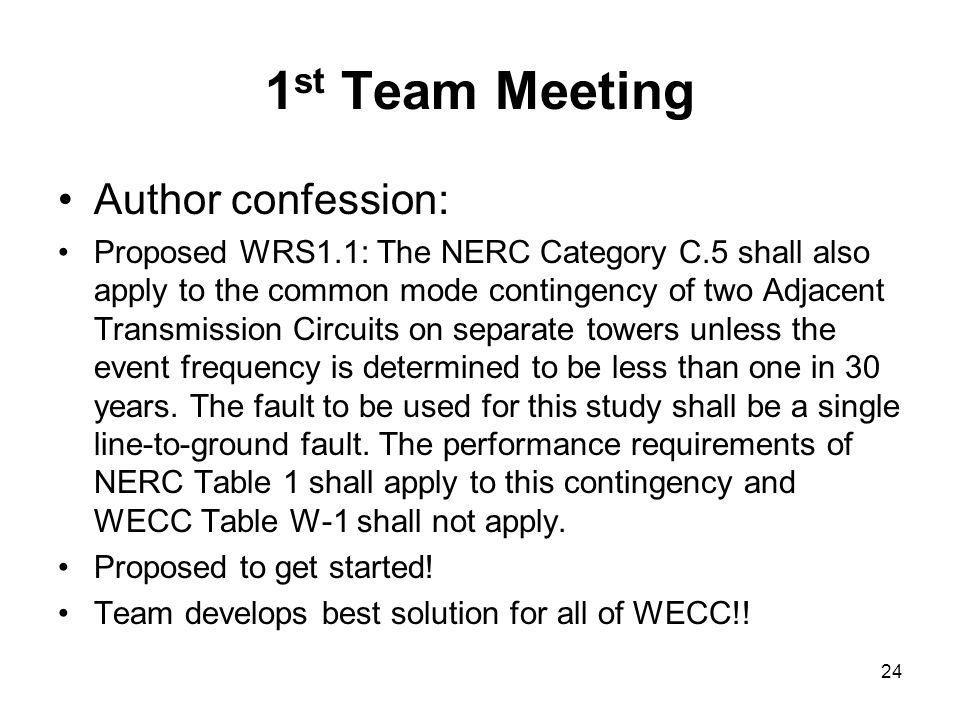 1st Team Meeting Author confession: