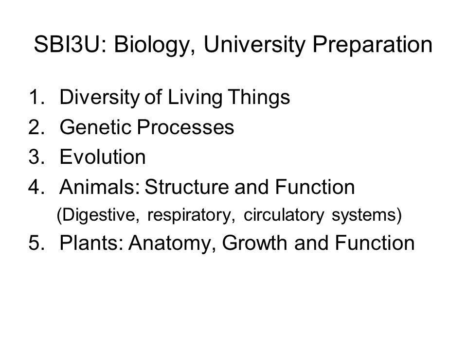 SBI3U: Biology, University Preparation - ppt download