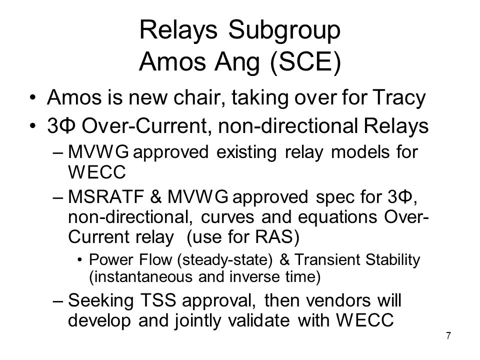 Relays Subgroup Amos Ang (SCE)