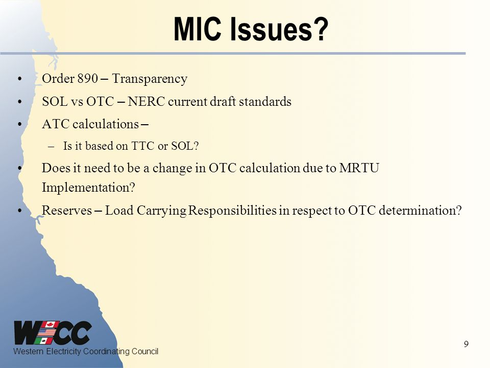 MIC Issues Order 890 – Transparency