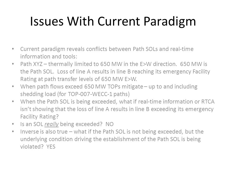 Issues With Current Paradigm