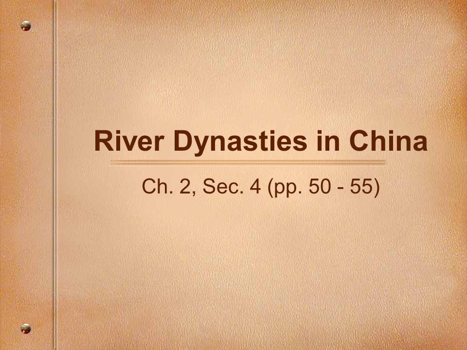 River Dynasties in China