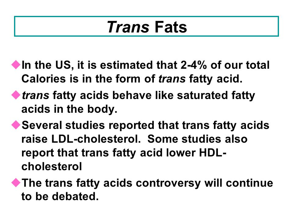 How Trans Fats Are Formed