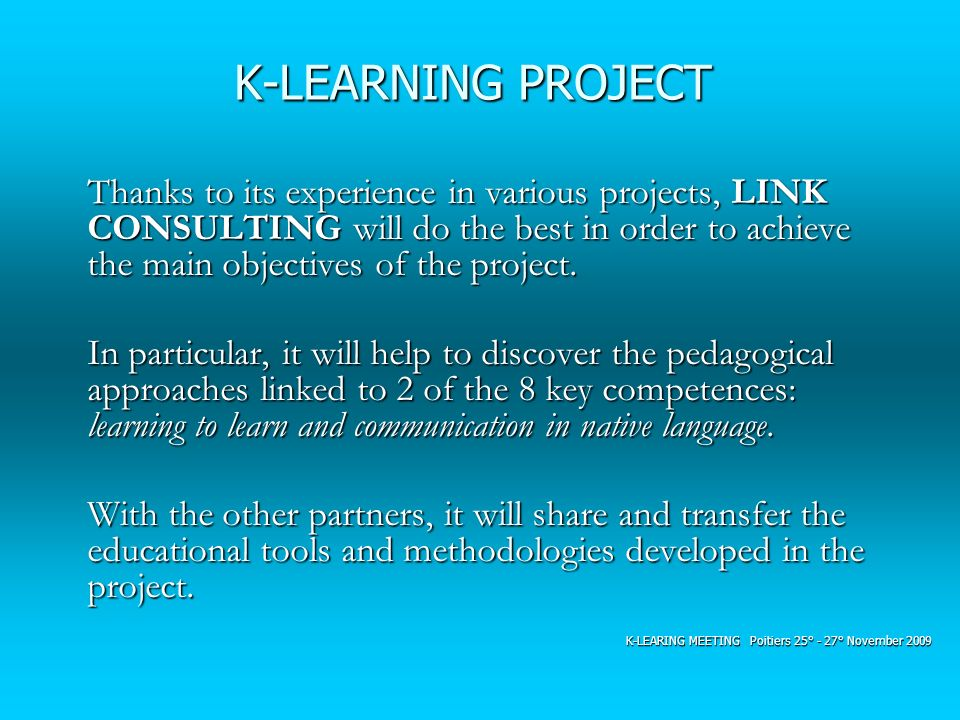 K-LEARNING PROJECT