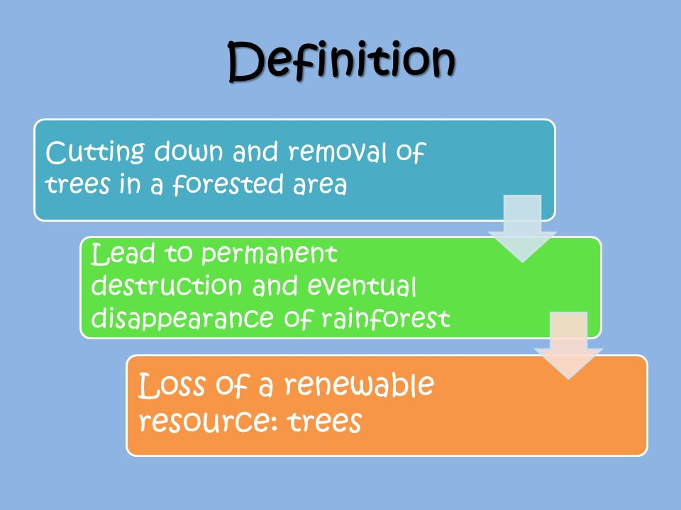 Deforestation ppt video online download definition loss of a renewable resource trees ccuart Gallery