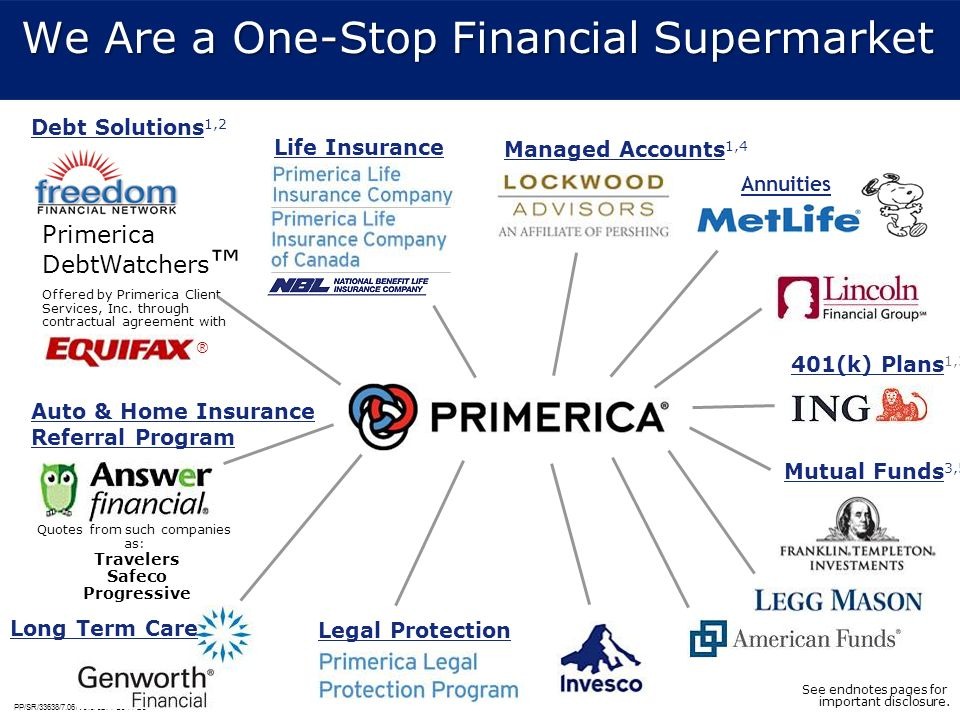 We Are a One-Stop Financial Supermarket