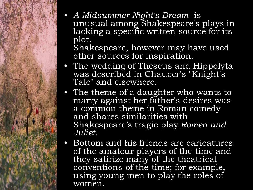 examples of love in a midsummer nights dream