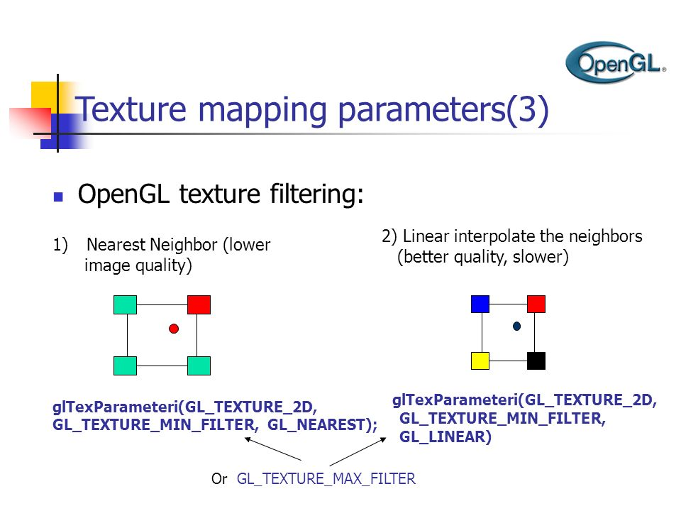Texture mapping parameters(3)