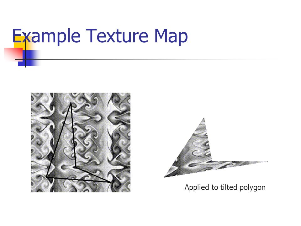 Example Texture Map Applied to tilted polygon