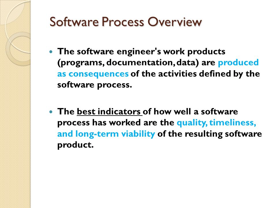 Software Process Overview