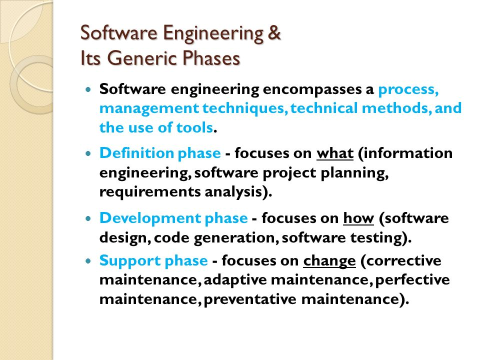 Software Engineering & Its Generic Phases