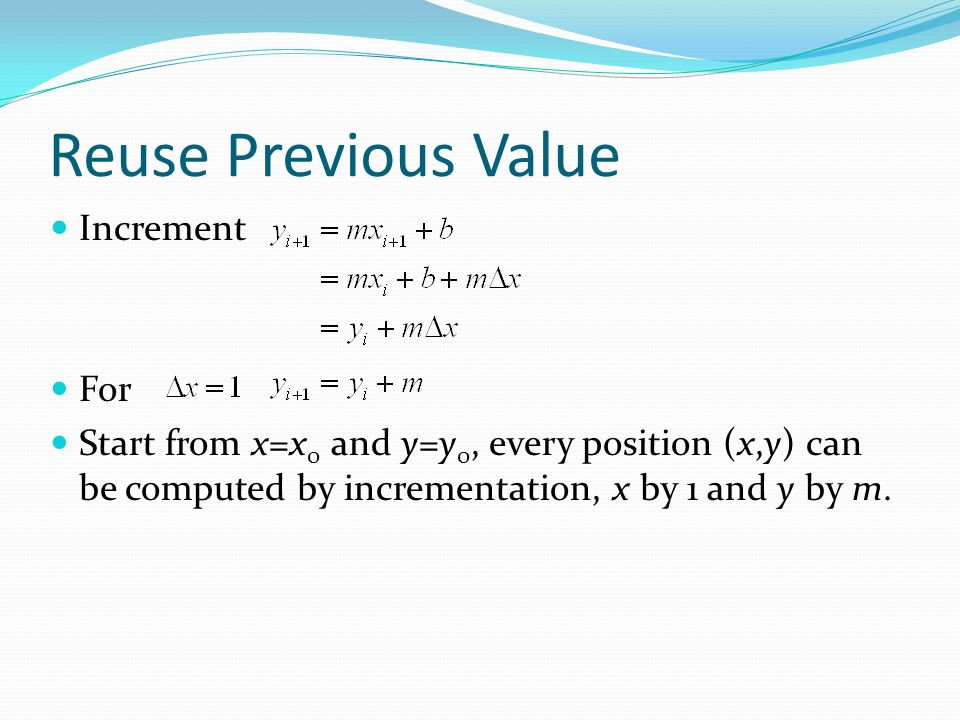 Reuse Previous Value Increment For
