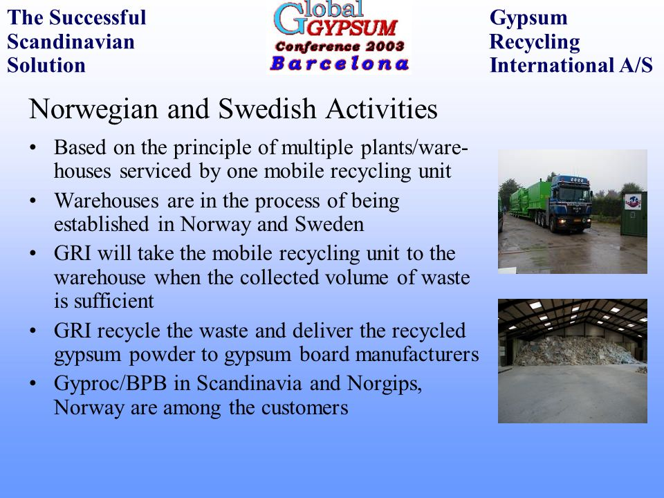Norwegian and Swedish Activities