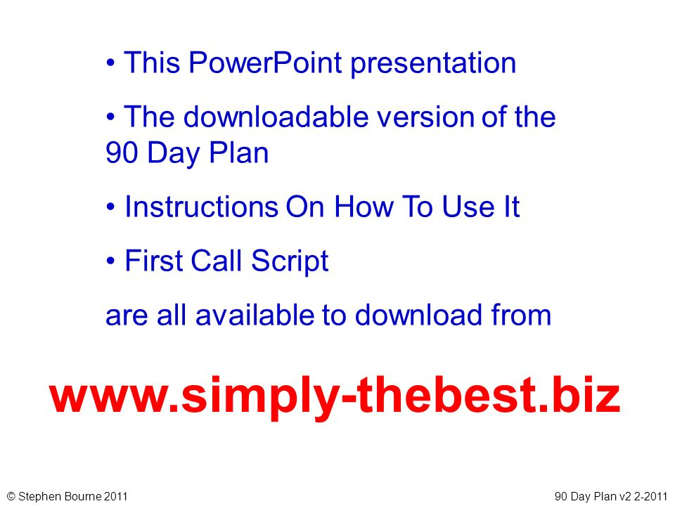 www.simply-thebest.biz This PowerPoint presentation