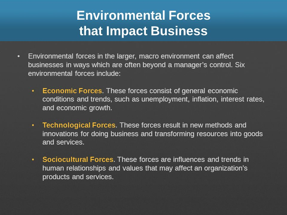 Environmental Forces that Impact Business