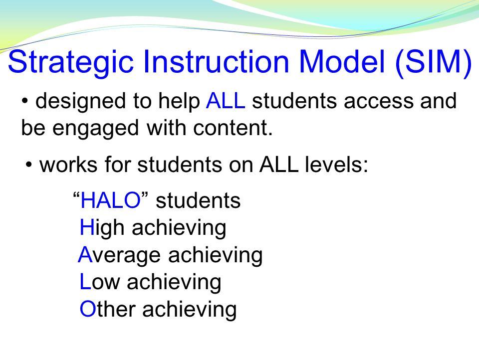 Strategic Instruction Model Sim Implementation Update Ppt Video