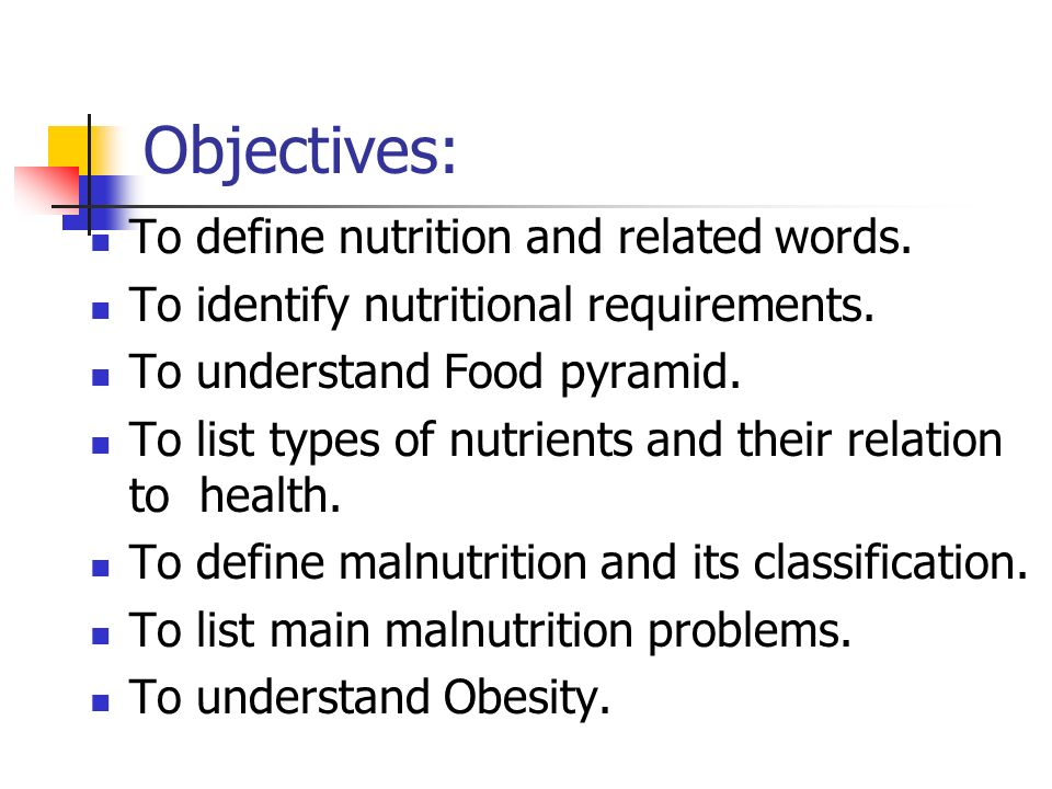 nutrition and health chp300 community health program l ppt download