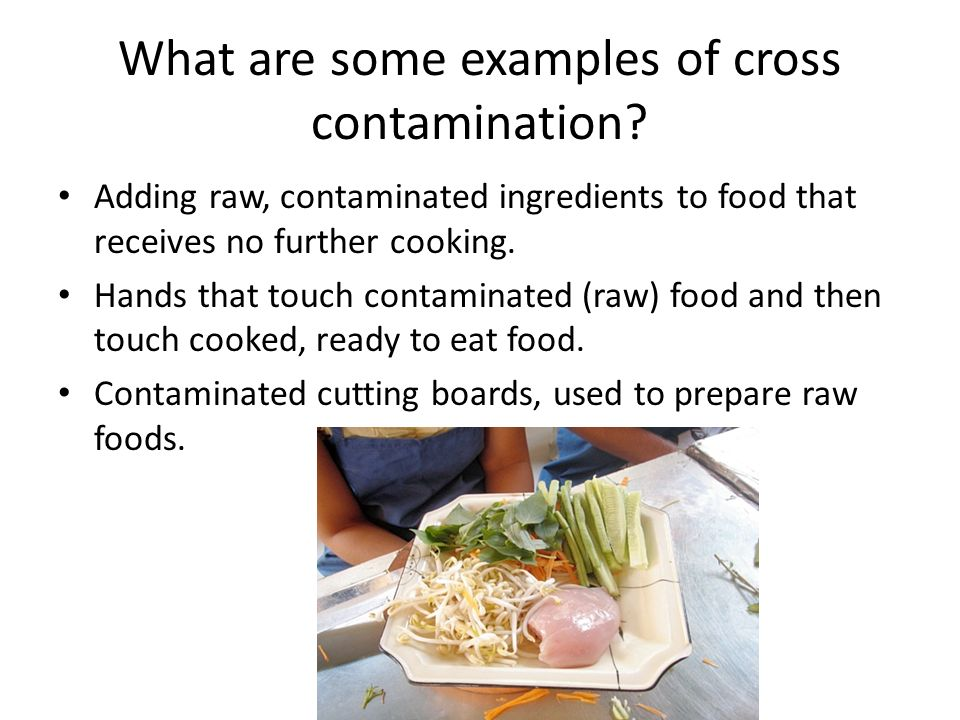 what are some examples of cross contamination