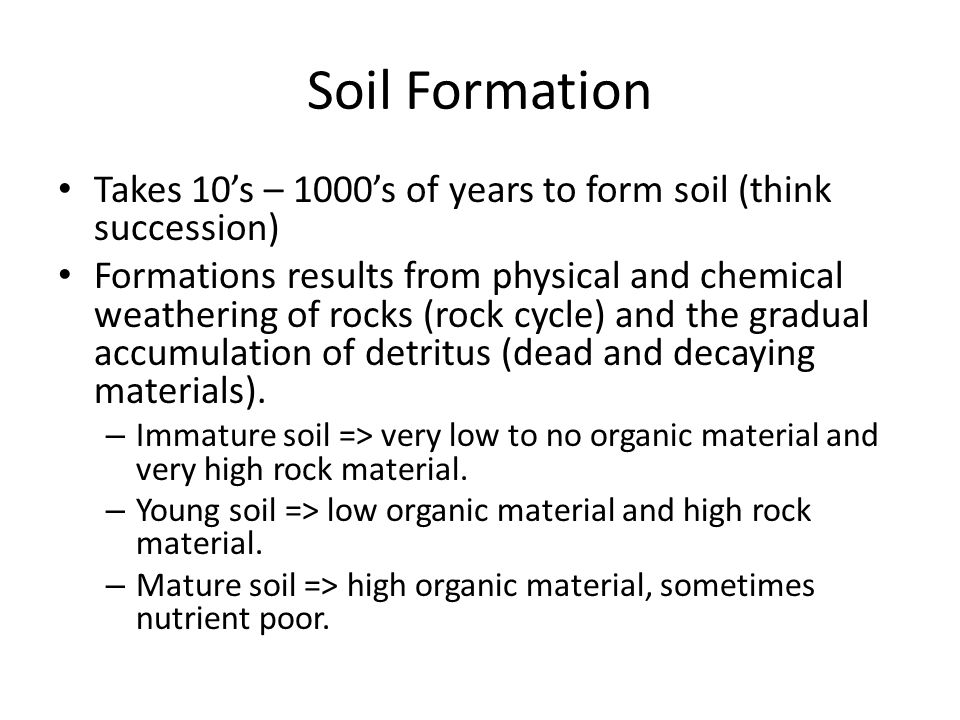 soil formation essay Soil facts - usda-nrcs k-12 lessons definitions of soil and soil survey, information on careers in soil science, and information on soil formation and classification soil quotations - usda-nrcs k-12 lessons the importance of soil to life and culture is illustrated by quotes from people like leonardo davinci, franklin roosevelt, and the.