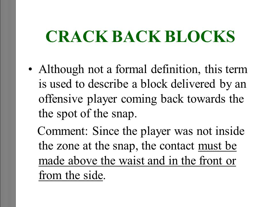 CRACK BACK BLOCKS