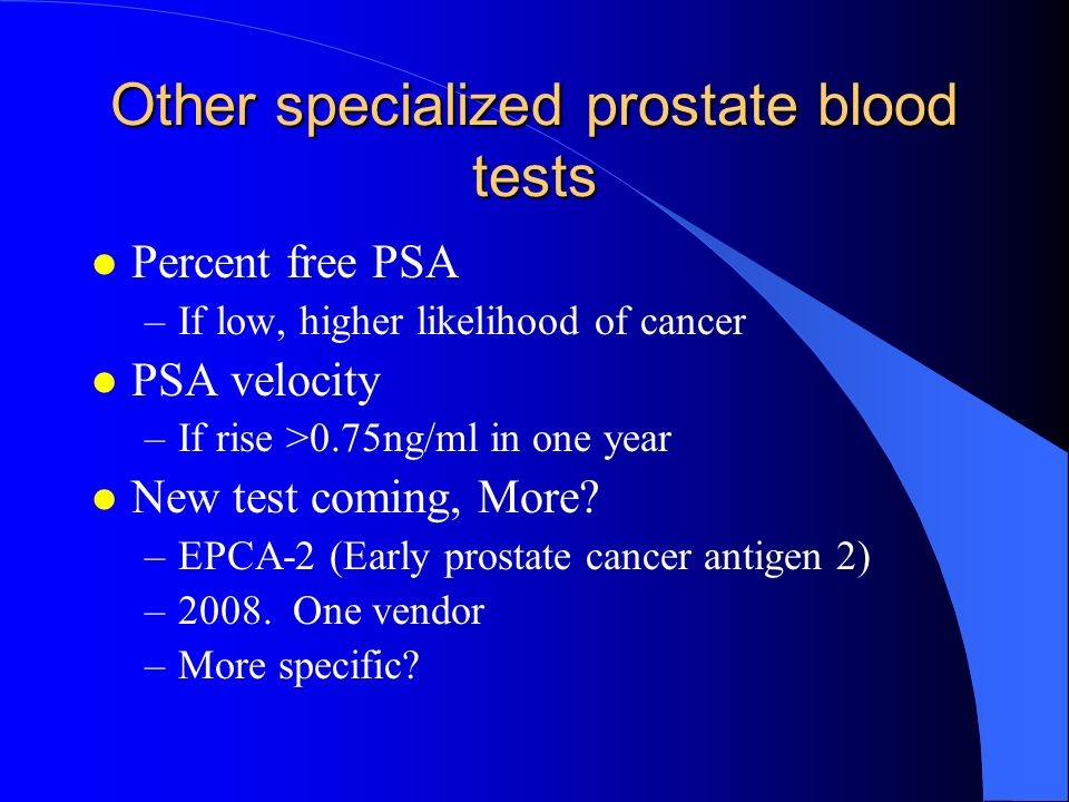 male urogenital disorders ppt video online downloadother specialized prostate blood tests