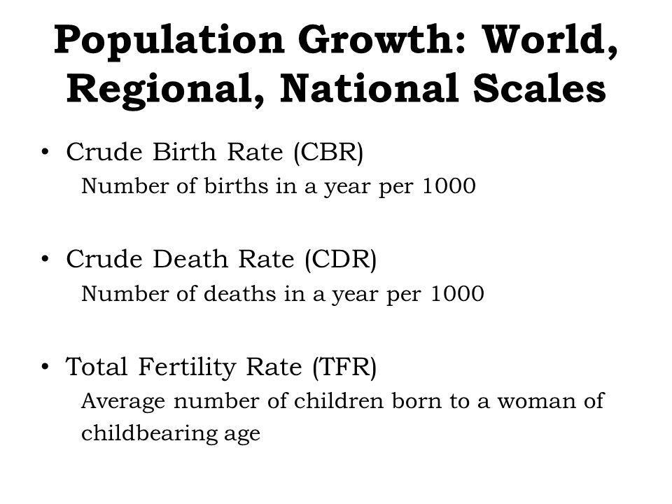 Population Growth: World, Regional, National Scales