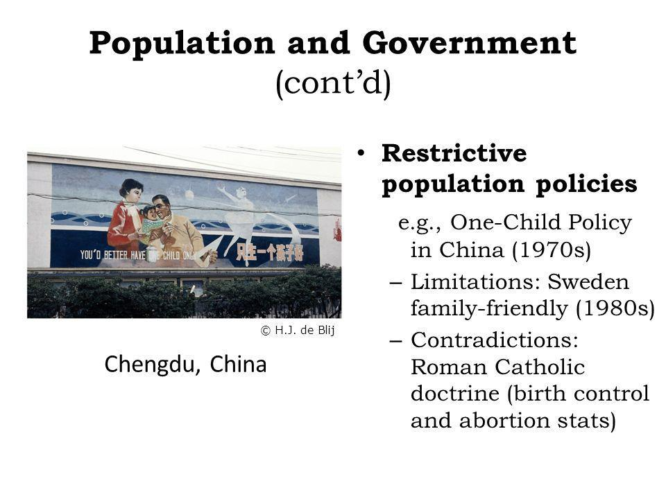 Population and Government (cont'd)