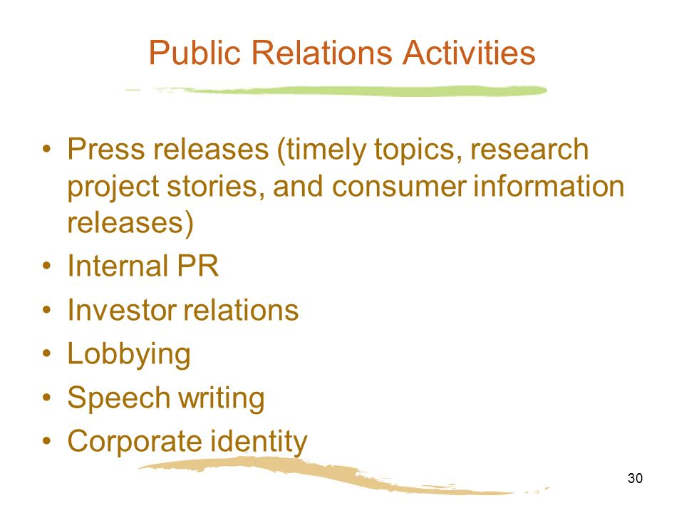 public relations research topics