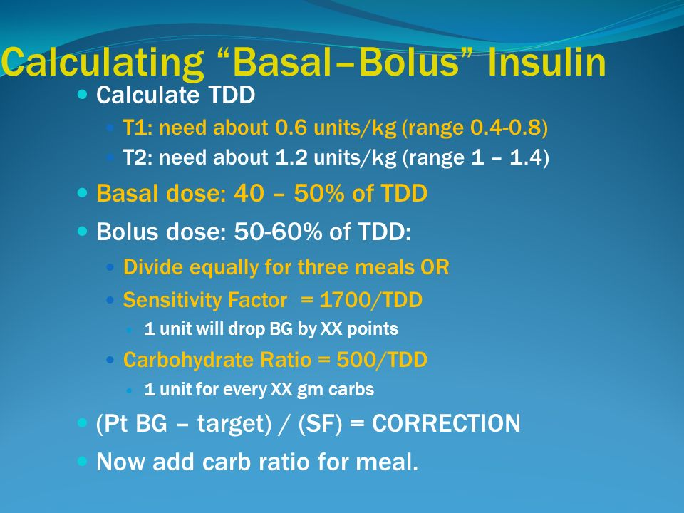 Basal And Meal Time Insulin Case Study Ppt Video Online Download