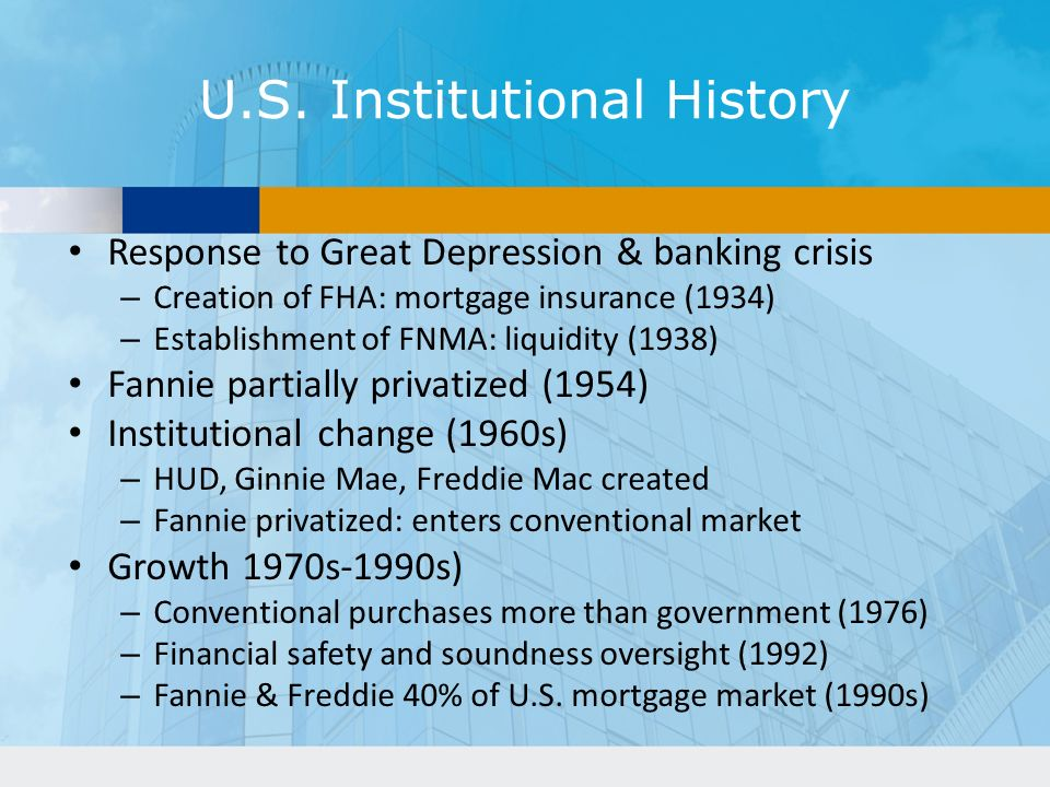 U.S. Institutional History