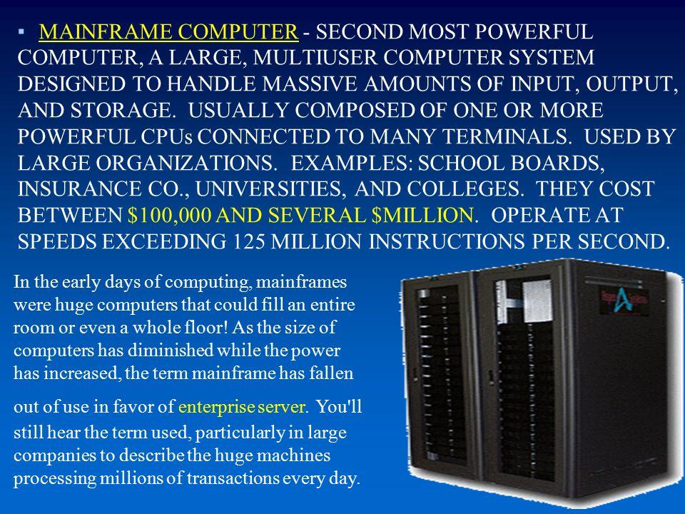30 Mainframe Memory Capacity