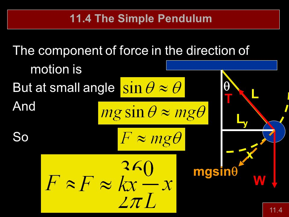 The component of force in the direction of motion is