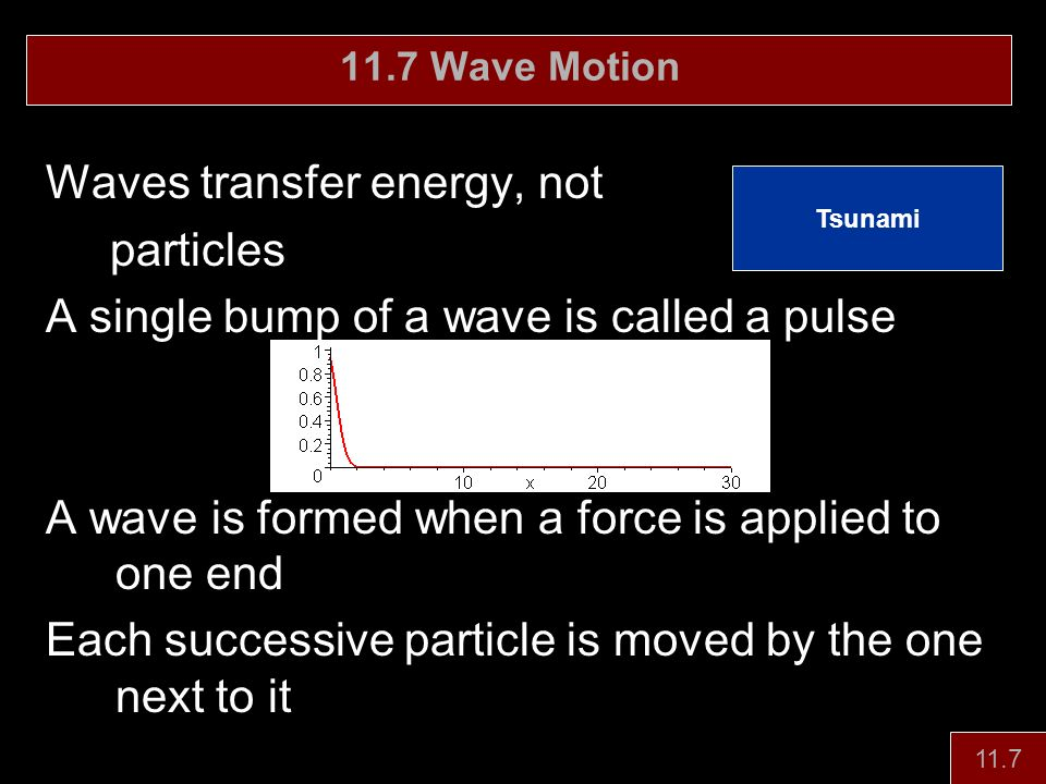 Waves transfer energy, not particles