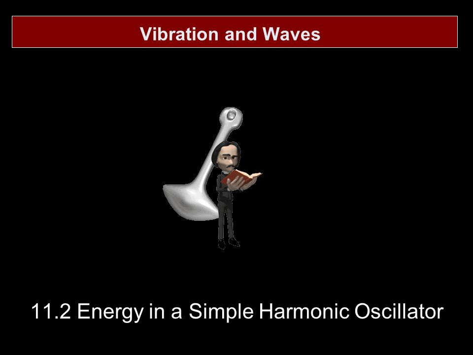 11.2 Energy in a Simple Harmonic Oscillator