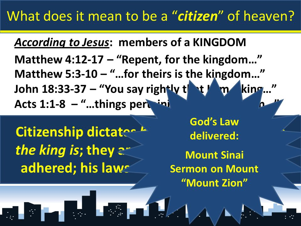 What does it mean to be a citizen of heaven