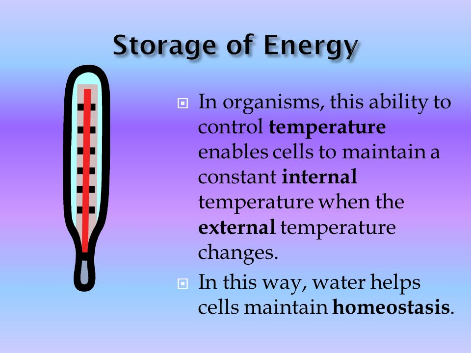 Storage of Energy