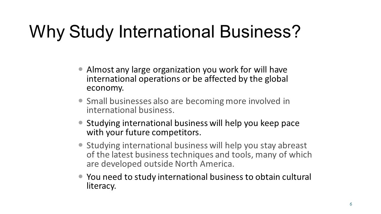 why study international business essay