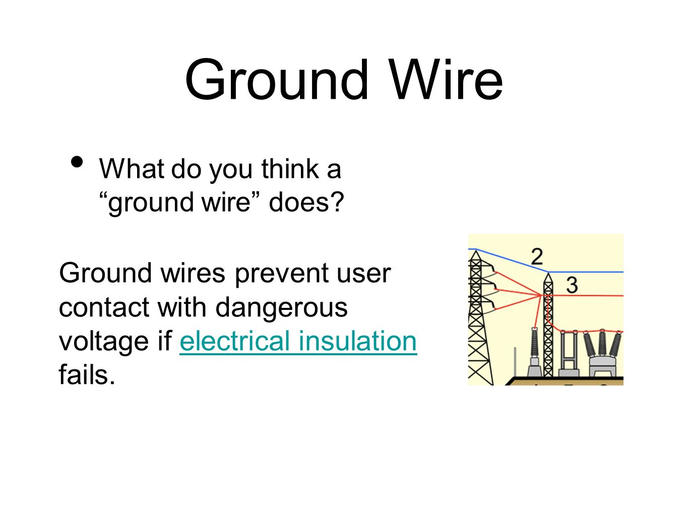Ground Wire What do you think a ground wire does.