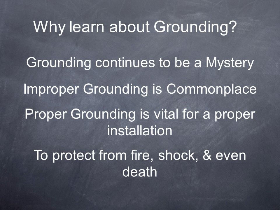 Grounding, bonding, and ground fault currents - ppt download