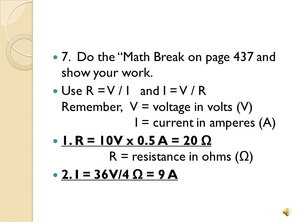 7. Do the Math Break on page 437 and show your work.